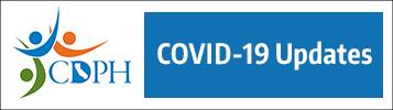 California Department of Public Health logo, reads: CDPH Covid-19 Updates