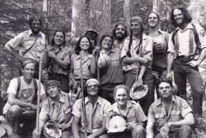Posed shot of the first Backcountry Trails Program crew in 1979