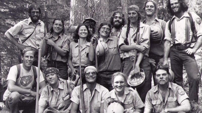 Group photo of 1979 Backcountry Trail Crew.