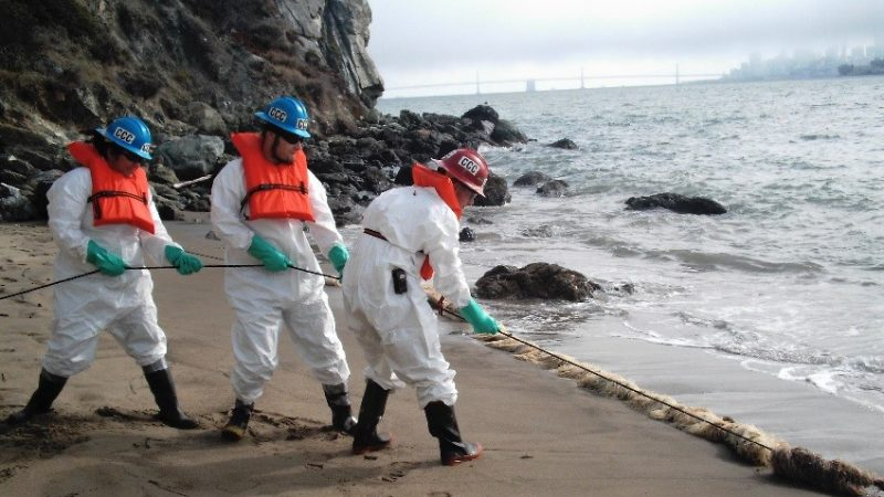 Angel Island 2007 Oil Spill Clean Up