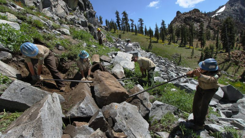 backcountry trails program in partnership with americorps
