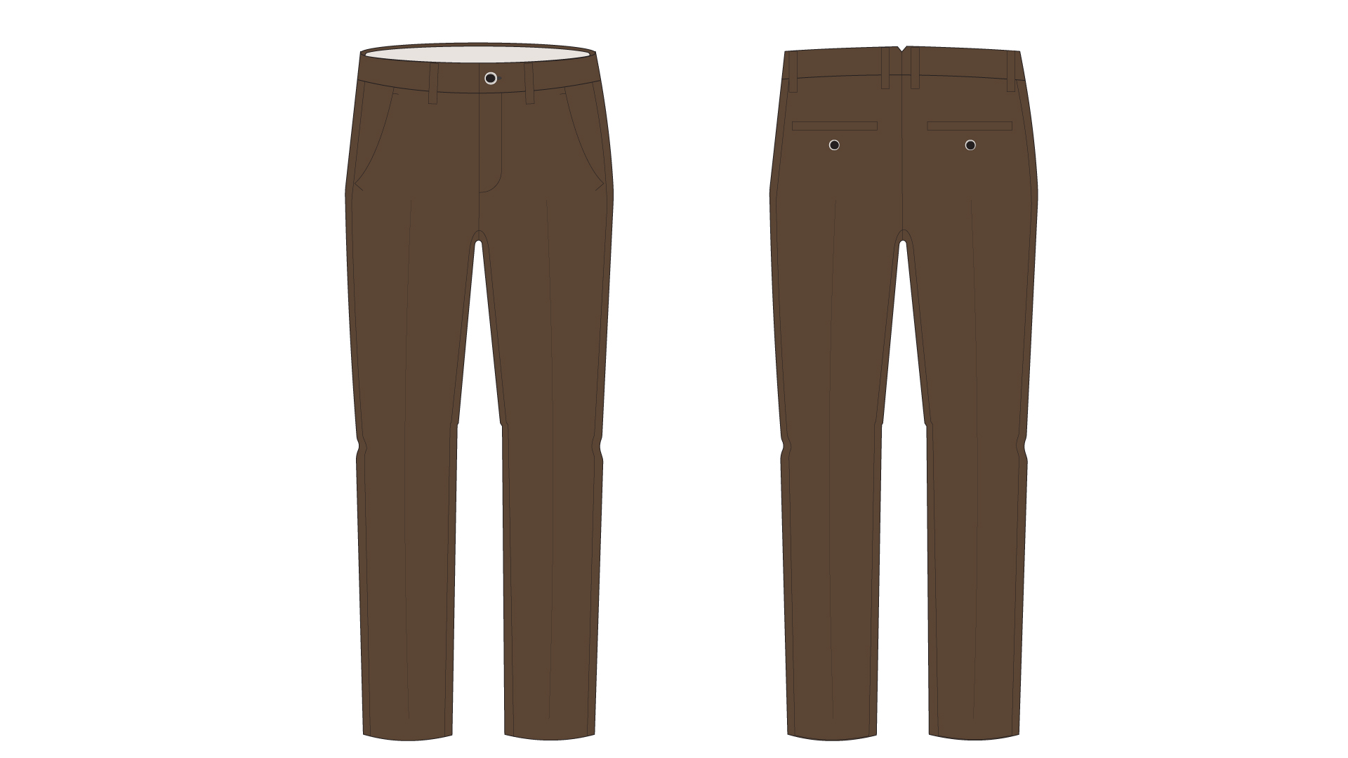 Graphic of the CCC uniform pants, which are brown .