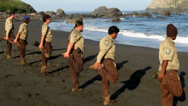 a Corps Members at the beach