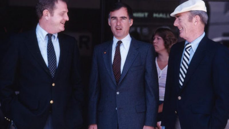 Gov Brown and CCC Director Jack Dugan in 1982