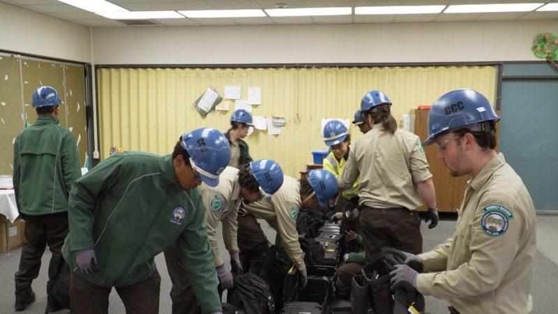 Sacramento Energy Crew 1 preparing equipment.