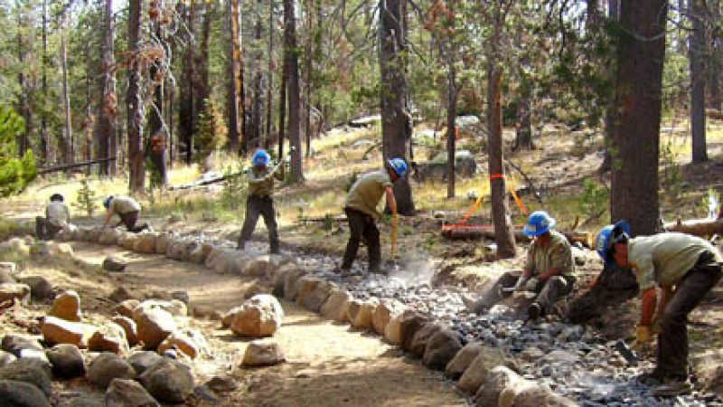 image Corpsmember build rock trail