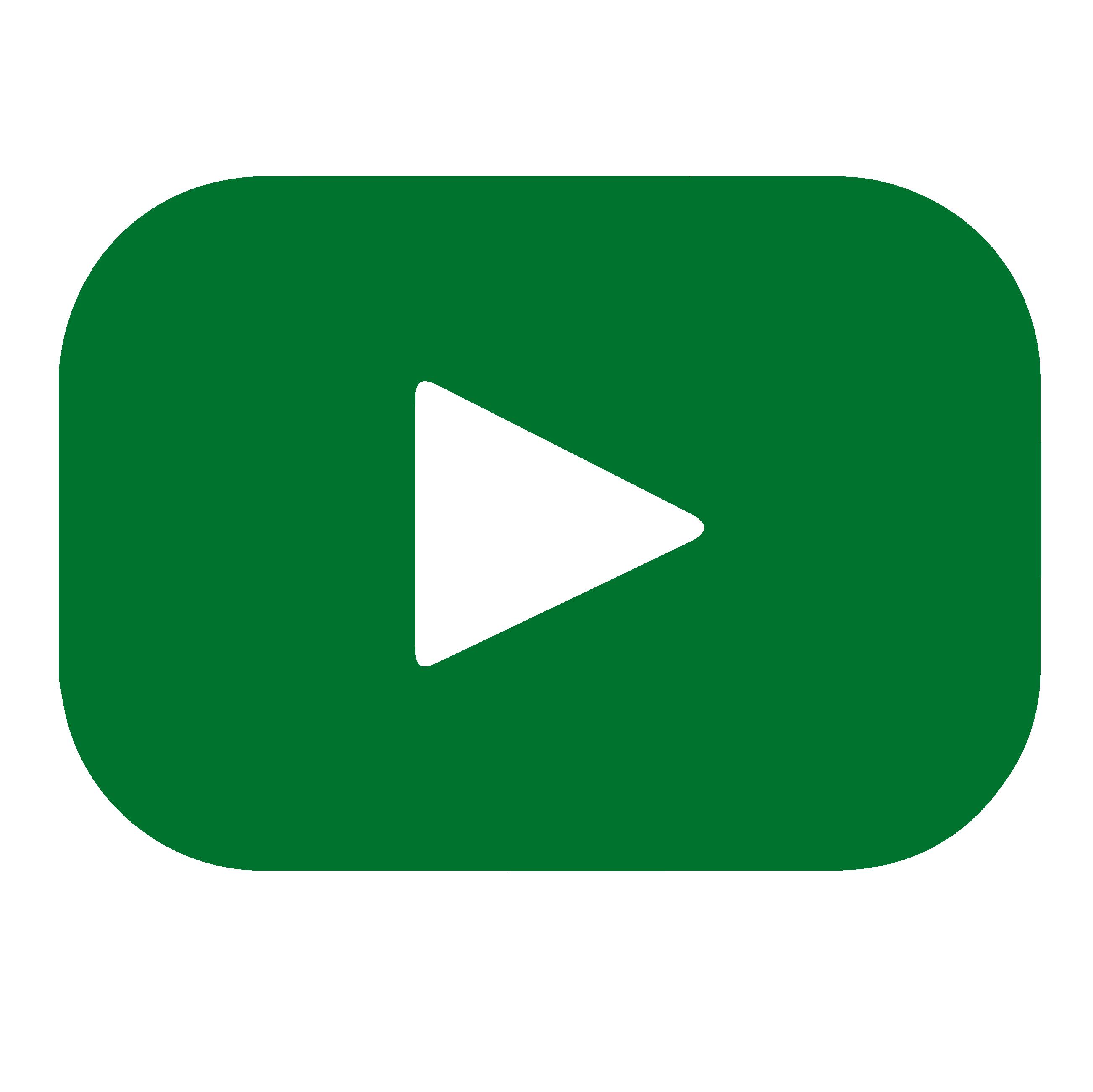 Green YouTube logo