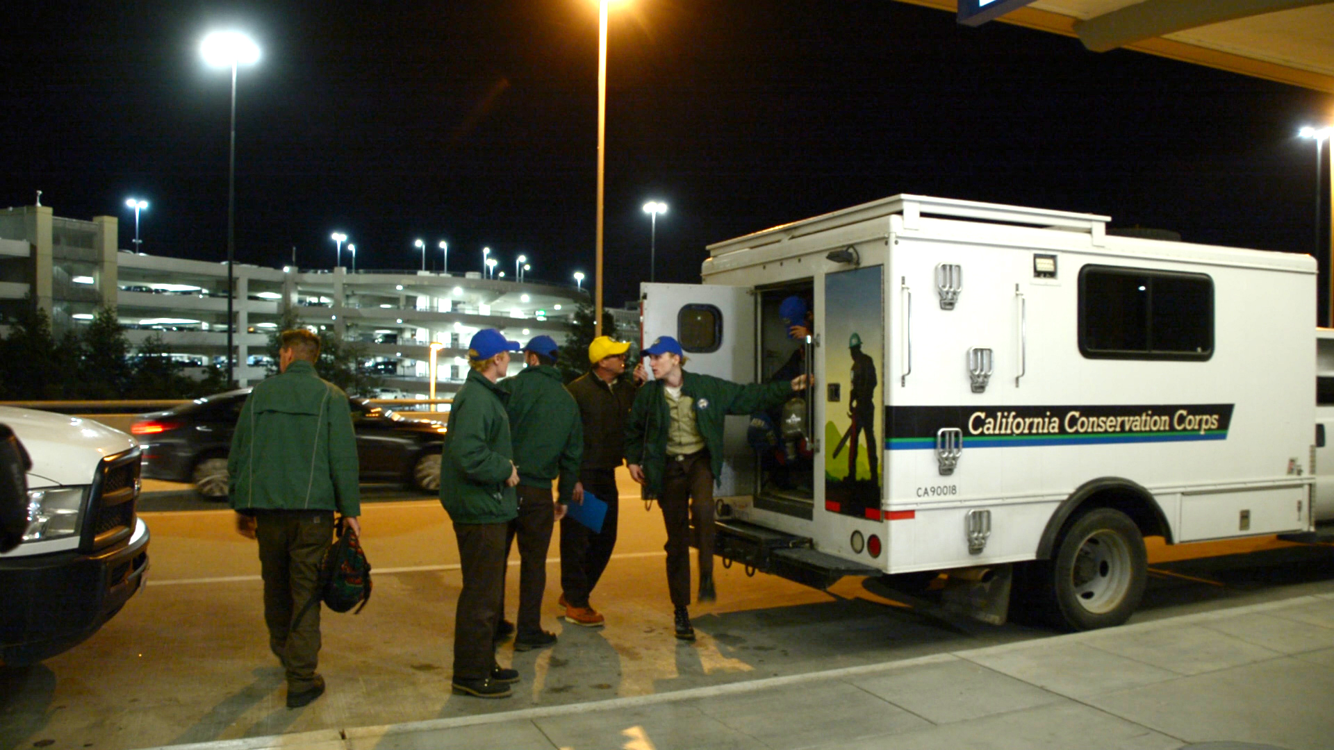 image Corpsmembers unload at Sacramento airport