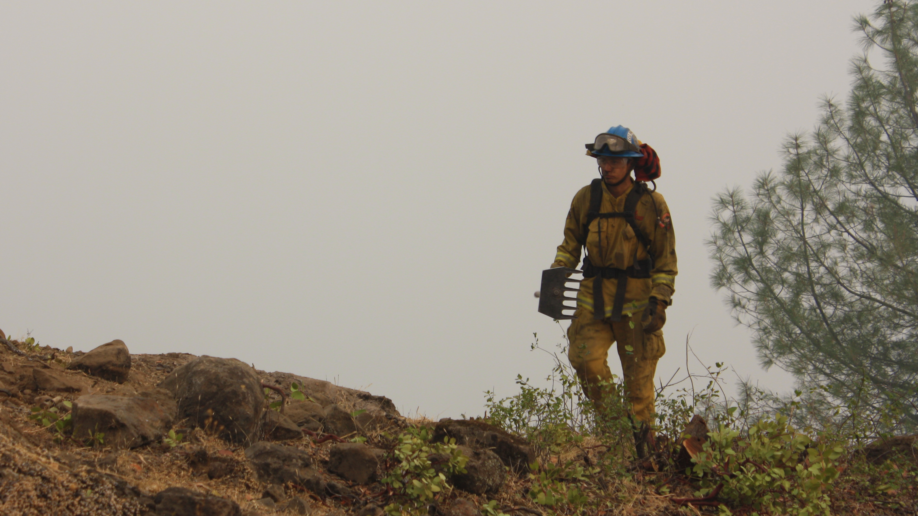 image Corpsmember on fire line