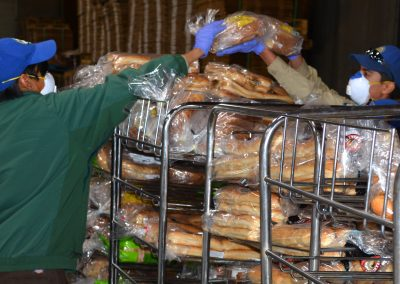 Fresno Corpsmembers Sort Bread at Merced County Food Bank
