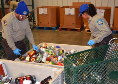 Placer Corpsmembers Sort Donations at Sacramento Food Bank