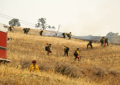 Butte 4 Cuts Lines Ahead of Fire